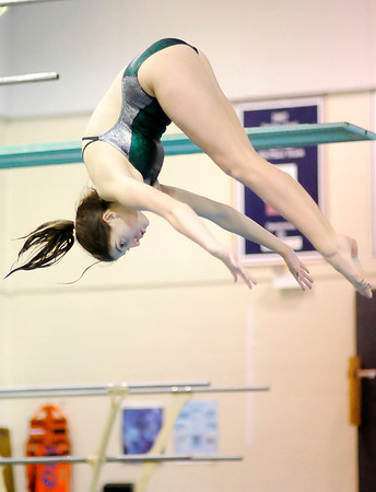 Pendleton Heights' Kylee Lloyd  dives as Pendleton Heights hosted Anderson on Thursday.
