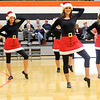 The Anderson University Dance Team entertains the crowd during half time as the Ravens hosted Spalding University on Wednesday.