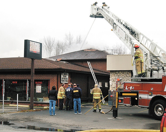 Anderson firefighters battled a fire at 2209 E. 10th Street that housed B & D Needful Things Monday morning.