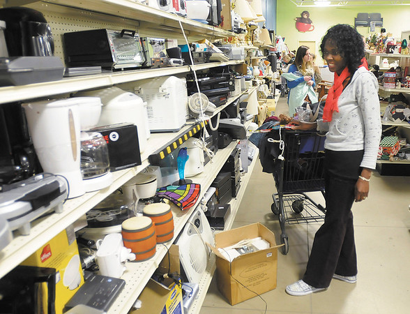 Neplenseh Sakeuh shops at the Goodwill in Anderson on Friday.