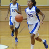 Janae Davis brings the ball downcourt for the Lady Jets.