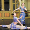 From left, Gracie Anderson and Maggie Hunter practice their performances for the Anderson Young Ballet's production of the Nutcracker Ballet at the Big Four Arts Depot on Wednesday.