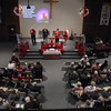 The congregation at the New Hope Christian Church in Anderson sing hymns at a Sunday morning service.