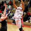 Anderson's Sharice Jones shoots as the Indians hosted Noblesville on Thursday.