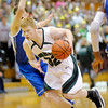 Pendleton Heights' Austin Brizendine drives into the paint as the Arabians  hosted Hamilton Southeastern on Saturday.