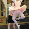 Alek Schroeder and Tillie Murphy practice their performances for the Anderson Young Ballet's production of the Nutcracker Ballet at the Big Four Arts Depot on Wednesday.