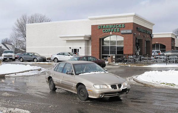 Starbucks was busy on Thursday as Anderson residents got back on the town after hunkering during Wednesday's winter storm.
