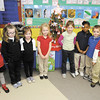 Some of the students from Jamey Knight's first grade class pose for a photo. From left are Marissa Griner, Rebekah Gossett, Haley Stout, Maiyan Bair, Mariah Pierce, Urriah Green, Aiden Porter and Harrison Stockwell.