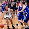 Daleville's James Tungate pulls up to make a cut against Southern Wells Friday evening.