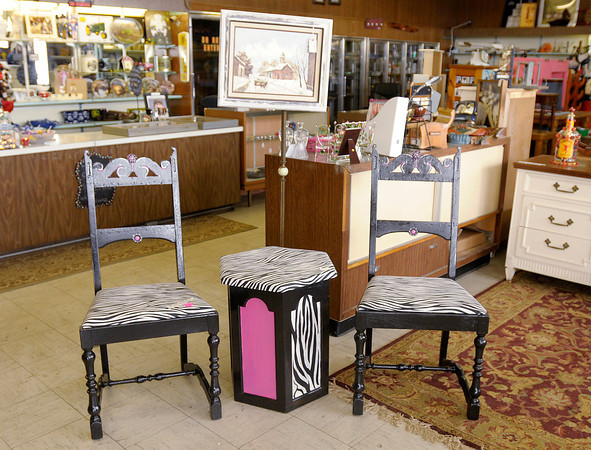 Don Knight / The Herald Bulletin<br /> This set of chairs and table have been given new life and are up for sale at What Workz in Anderson.