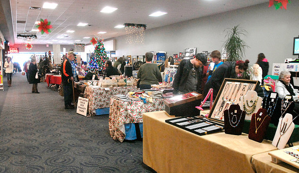 THB photo/John P. Cleary<br /> The Exchange Club of Madison County's Craft and Gift Show is being held at the Mounds Mall.  The show features 95 vendors and runs through the weekend during mall hours.