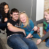 THB photo/John P. Cleary<br /> The Jarnagin children having fun with each other as Cecelia, 10, Hailey, 5, and Gavyn 6, beat up on older brother Anthony, 19.