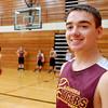 THB photo/John P. Cleary<br /> Sean Kilgore, 15, a Alexandria high School freshman basketball player, helped save a 82-year-old neighbor lady that had fallen.