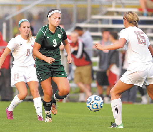 Don Knight/The Herald Bulletin<br /> Pendleton Heights faced Fishers in the sectional final at Hamilton Southeastern on Saturday.