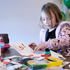"Don Knight / The Herald Bulletin<br /> Cerenati Wilkins, 5, creates a Christmas card at Daybreak Church during ""Christmas in Lapel"" on Saturday. This was the first year for the event that included carolers and a live nativity."