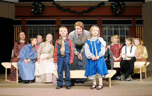 """Don Knight / The Herald Bulletin<br /> Ovid Community Church held a dress rehearsal of """"The Christmas Miracle of Jonathon Toomey"""" on Thursday. The first musical adaptation of the best-selling childrenís book will be presented  Dec. 6-8 at Ovid Community Church."""