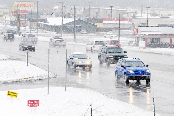 Don Knight / The Herald Bulletin<br /> Despite several inches of snow Scatterfield was clear on Saturday.