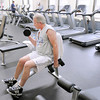 Don Knight / The Herald Bulletin<br /> L.J. Mechem works out at the YMCA on Wednesday. The YMCA has purchased new equipment and remodeled their main level.