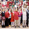 Don Knight / The Herald Bulletin<br /> Edgewood Elementary students sing Christmas songs during the school's Christmas program on Friday.
