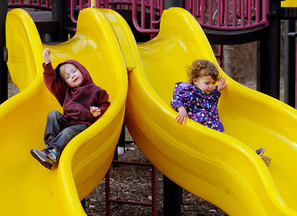 THB photo/John P. Cleary<br /> Feature shots of kids playing at the Shadyside playground on a warm December day.