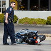 THB photo/John P. Cleary<br /> A serious personal injury accident involving a motorcycle and car occurred at 8th Street and Scatterfield Road Saturday afternoon.