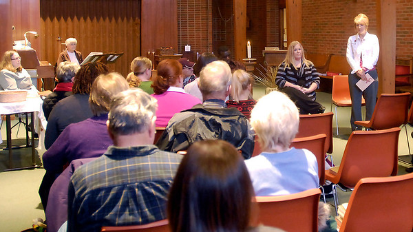 THB photo/John P. Cleary<br /> A small group attended the annual World AIDS Day Prayer Service held at St. Mary's Catholic Church Monday.