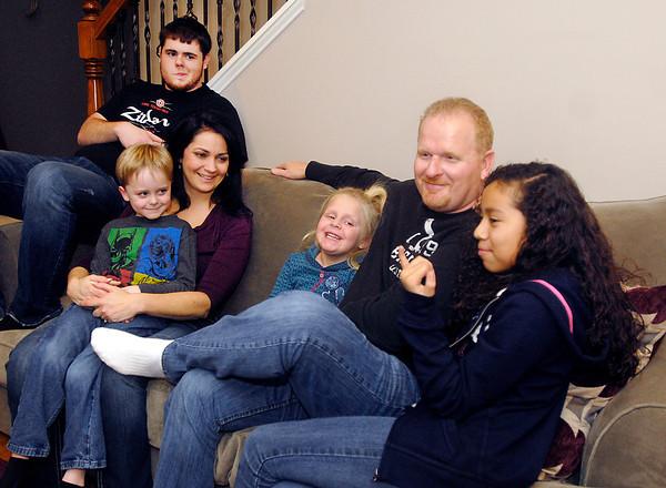 THB photo/John P. Cleary<br /> The Jarnagin family: L to R are Gavyn, 6, Anthony, 19, Deana Jarnagin, Hailey, 5, Chuck Jarnagin, and Cecelia, 10.