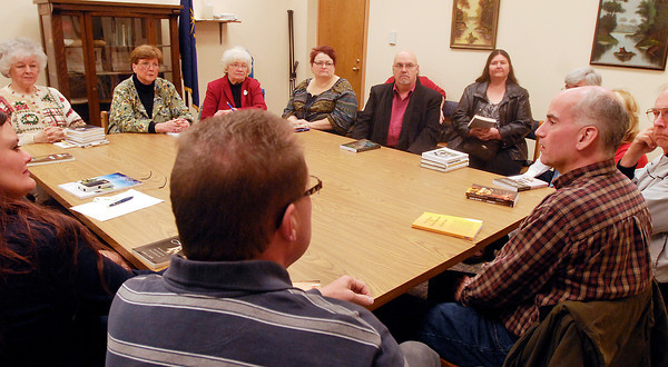 THB photo/John P. Cleary<br /> A group of local authors meet to prepare for the Anderson Public Library's sixth annual Local Authors Fair and Book Signing to be held this Friday and Saturday at the library.