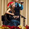"THB photo/John P. Cleary<br /> Paige Hendershot and Devin Norrick sang ""Christmas in the Sand"" during the Lapel High School Music Department's annual holiday show, ""Celebrate Christmas"" Monday evening."