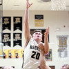 Chris Martin | For The Herald Bulletin<br /> Wyatt Rudy goes for a layup Friday night when Madison-Grant hosted Elwood.