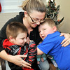 John P. Cleary |  The Herald Bulletin<br /> Kelly Brown, and her two sons Braxton,3, and Trenton, 5, are staying in the Fire Rescue House for part of the holiday after experiencing a fire.