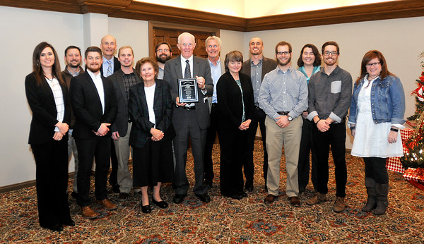 John P. Cleary |  The Herald Bulletin<br /> Madison County Chamber annual Entrepreneur Award luncheon.
