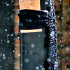 "John P. Cleary |  The Herald Bulletin<br /> This scarf, with a note stating "" Take me & wrap up! Stay warm"" was  hanging from a light pole at Meridian and 10th Streets in downtown Anderson Wednesday. Hats, scarves and mittens were seen posted along Meridian Street from someone paying it forward for people in need."