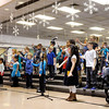 "Don Knight | The Herald Bulletin<br /> Families packed into the gym at the the Killbuck Kindergarten Extension for their winter musical program ""Snowflakes Fall"" on Thursday. ACS students two week Christmas break starts on Saturday."