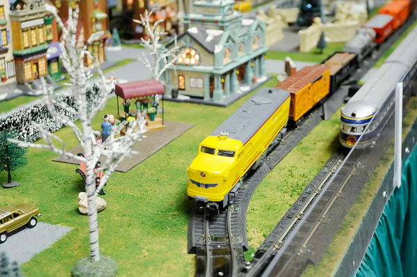 Don Knight | The Herald Bulletin<br /> An S scale model train operates at the Madison County Historical Society on Saturday. The model train exhibit includes several different layouts.