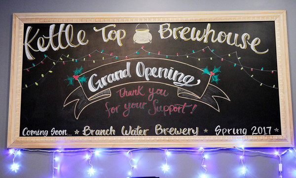 Don Knight | The Herald Bulletin<br /> Kettle Top Brewhouse held a grand opening at their location in downtown Anderson on Friday Dec. 9th.