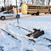 John P. Cleary |  The Herald Bulletin<br /> Accident involving an ACS school bus happened Thursday afternoon on County Road 100 S and Donna Drive where the bus was apparently rear ended by another vehicle.