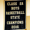 David Humphrey | for The Herald Bulletin<br /> A banner naming the Lapel Boys' Basketball team as 2016 Class 2A State Champions was unveiled at Friday night's ballgame.