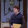 "Mark Maynard | for The Herald Bulletin<br /> Aspiring playwrite Clifford Anderson is played by Sam Lynch in ""Deathtrap."""