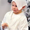 John P. Cleary |  The Herald Bulletin<br /> Boston Sharpe, 9, takes a short break to get a drink of water and cool down as he takes part in the T.A.S.K. Karate Studio kick-a-thon fundraiser.