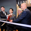 John P. Cleary |  The Herald Bulletin<br /> The Madison County Chamber and City of Anderson welcome Northview Church to Anderson with ribbon-cutting Monday. doing the honors are Adam Hiatt, the Anderson campus pastor, Dennis Ashley, president Madison County Chamber, Anderson Mayor Thomas Broderick, and Steve Poe, senior pastor for Northview Church.