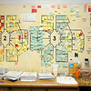 Don Knight |  The Herald Bulletin<br /> Color codes tags represent the location of inmates at the Madison County Jail on Thursday. The jail was designed to house 207 inmates but is running about 40 percent over that number.