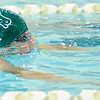 Don Knight |  The Herald Bulletin<br /> Pendleton Heights' Oliver Claxon competes in the 100 breaststroke as the Arabians hosted Greenfield Central on Thursday.