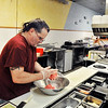 John P. Cleary |  The Herald Bulletin<br /> Roger Koker, co-owner of Hungryman's Friend Cafe, makes up beef patties in the downtown restaurant Wednesday afternoon. The business is closing because of two family emergencies Roger and his wife Kate are dealing with.