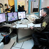 Don Knight |  The Herald Bulletin<br /> John Dykes works in the booking area at the Madison County Jail on Thursday.