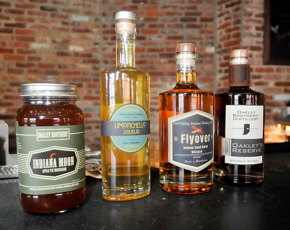 John P. Cleary |  The Herald Bulletin<br /> Oakley Brothers Distillery is open to sell some of their products for the holidays ahead of their official opening.