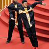 "Don Knight |  The Herald Bulletin<br /> Aundray Ivy catches Jalen Coleman as the two perform a dance routine to the song ""Pressure"" during the Mt. Pilgram Church Youth Christmas Program on Saturday."