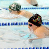 Don Knight |  The Herald Bulletin<br /> Anderson's Allie Bramwell swims against Pendleton Heights Emma Robison on Thursday.