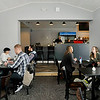 John P. Cleary |  The Herald Bulletin<br /> Jackrabbit Coffee opened Thursday in the former Hot Dog Circus building at John and 11th Streets.