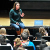 John P. Cleary |  The Herald Bulletin - Broken Trust series<br /> Julie Coon, of Kids Talk, gives the presentation Good Touch/Bad Touch to Highland Middle School students recently.